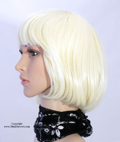 Classic Bob Style Full Head Wig in Sexy Bleach Blond